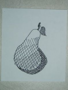 Fruit Drawings to practice cross hatching. Miss Young's Art Room: 3rd Grade Hatching/Cross-hatching Project
