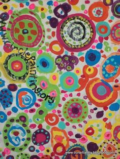 Second grade circle paintings by we heart art.
