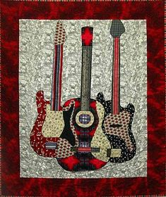 quilt guitar pattern - Google Search
