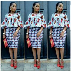 While you are working we discovered that the Ankara styles are getting much better, some you can rock to work no questions asked while others African Fashion Ankara, Latest African Fashion Dresses, African Print Dresses, African Print Fashion, Africa Fashion, African Prints, African Fabric, African Attire, African Wear