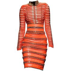 balmain edited by metalheavy ❤ liked on Polyvore featuring dresses, vestidos, balmain, balmain dress and red dress