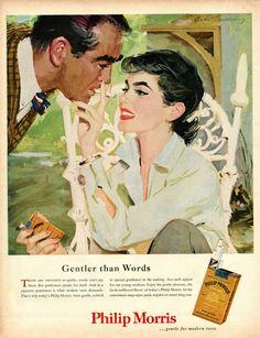 Philip Morris Cigarettes Vintage Poster Advert @ΛlιΚΛЯΔΜΙ #cigarettecollection