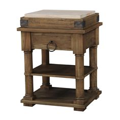 Chic Retreat CRK-35821-AFC-RAW Corina Small Boucherie Kitchen Island | ATG Stores 35 high 28 by 24 free shipping on sale for $810 down from $1367
