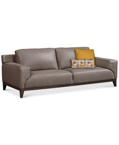 Ticino Leather Sofa, Created for Macy's - Furniture - Macy's