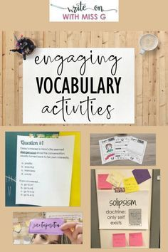 6 Engaging Vocabulary Activities to Try in 2020 - Write on With Miss G