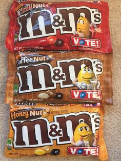 3 Bags M MS Chili Nut Coffee Nut Honey Nut 10 oz Limited Vote for Favorite HTF | eBay