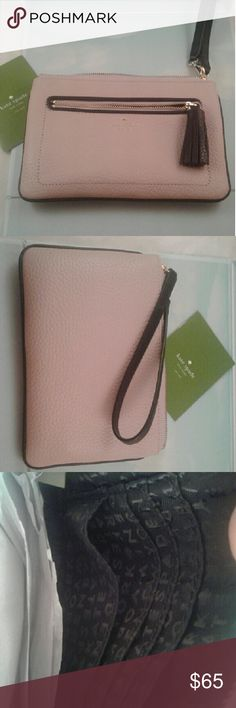 Kate Spade clutch leather New leather  clutch Kate spade kate spade Bags Clutches & Wristlets