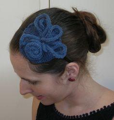 Blue Knitted Swirl Round Fascinator Hairband £19.00