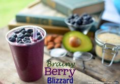 Berry Brainy Blizzard- A Smoothie For Kids | Healthy Ideas for Kids