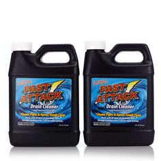 Chemical Free Cleaning... 802428 Fast Attack 2 Piece Drain Cleaning Kit QVC Price: £17.50 + P&P: £4.95 or 2 Easy Pays of £8.75 +P&P This cleaning solution dissolves the build-up of dirt and debris - including hair - that causes pipes to clog; and it can be used on all types of plumbing in both old and new homes. Keep the plugholes and drains in your home clean, clear and free-flowing with the Fast Attack drain cleaning kit.