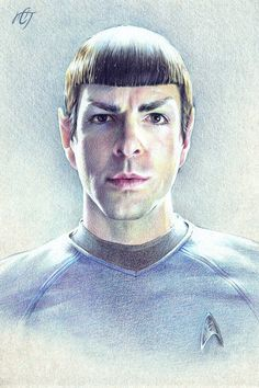 Mr. Spock (Zachary Quinto) by Inar-of-Shilmista.deviantart.com on @DeviantArt