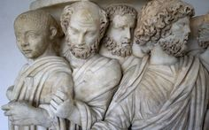"""Detail of the """"consul sarcophagus,"""" a 3rd-century AD Roman marble sarcophagus discovered at Acilia near Ostia Antica and on display in the Museo Nazionale Romano Palazzo Massimo alle Terme. (Photo: AIRC)"""