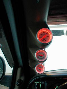 black interior showing dials of gauges dodge ram 2500 truck