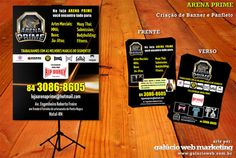 Criação de arte para banner em lona e panfletos    Cliente: Arena Prime