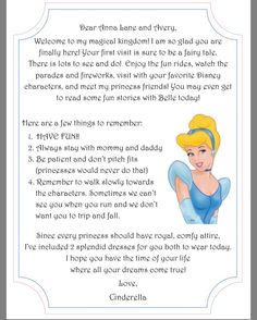 write a letter to disney character a welcome letter from your child s favorite disney 25787