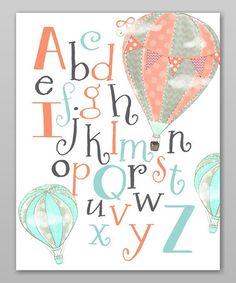Look at this #zulilyfind! Hot Air Balloon Alphabet Print #zulilyfinds
