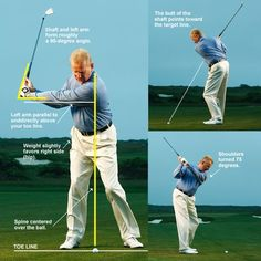 Golf Tips The No-Backswing Swing Details are a simple way of making a great backswing in golf. Learn the keys to making a simple backswing in golf and lowering your scores today. Golf Backswing, Best Golf Clubs, Club Face, Golf Instruction, Perfect Golf, Golf Training, Golf Quotes, Golf Lessons, Play Golf