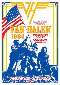 Van Halen Concert Poster https://www.facebook.com/FromTheWaybackMachine