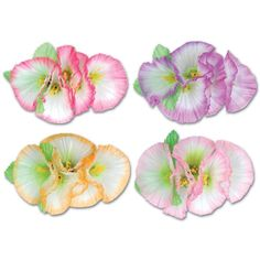 Morning Glory Flower Accessory assorted colors (12ct)