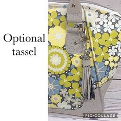 Your place to buy and sell all things handmade Laminated Cotton Fabric, Cork Fabric, Shades Of Yellow, Fabric Samples, Hang Tags, Purses And Handbags, Cleaning Wipes, Floral Prints, Gray