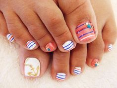 Cute pedicure......summer time