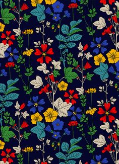 Pattern Painting - Flower Bed by Sholto Drumlanrig Surface Pattern Design, Pattern Art, Pattern Painting, Pattern Flower, Motif Floral, Floral Prints, Image Digital, Watercolor Wallpaper, Pretty Patterns