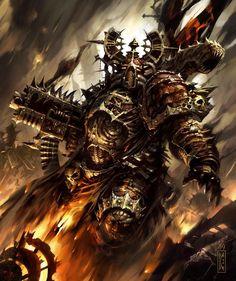 Chaos Space Marine Helmet and knee Warhammer 40k Art, Warhammer Fantasy, Space Marine, Night Lords, Aliens, Chaos 40k, Dark Ages, Sci Fi Fantasy, Monster
