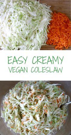 My Detox Routine + 3 Super Easy Healthy Vegan Recipes Vegan Coleslaw vegan creamy coleslaw recipe Creamy Coleslaw, Vegan Coleslaw, Best Coleslaw Recipe, Coleslaw Recipes, Salad Recipes, Detox Recipes, Vegan Recipes, Easy Recipes, Free Recipes