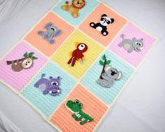 Thassos Mosaic Crochet Blanket instant download PDF pattern | Etsy Cat Applique, Applique Patterns, Crochet Blanket Patterns, Crochet Afghans, Crochet Blankets, Free Crochet, Crochet Baby, Crochet Panda, Dk Weight Yarn