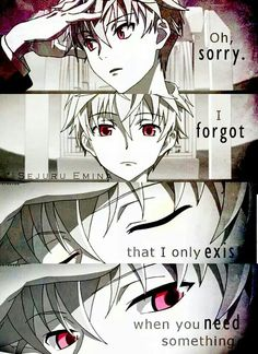 Oh sorry, I forgot that I only exist when you need something, text, anime guy, red eyes; Anime  Please tell me the name of this Anime and/or characters if you know