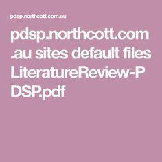 pdsp.northcott.com.au sites default files LiteratureReview-PDSP.pdf