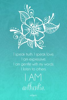 Throat Chakra Affirmation.