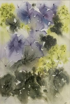 Winners of the Jean Haines Flower Painting Competition. Geraniums and Achemilla Mollis by Anne Jones Painting Competition, Flower Painting, Inspiration, Watercolor, Painting, Abstract Artwork, Art, Haines, Abstract