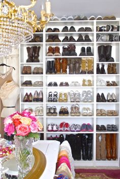 How To Create Your Dream Closet | Design Eur Life. Sigh. Imagine if all your shoes had their own little space where you could always find them. And admire them. And pet them. And try them on. And twirl around in your gorgeous, ginormous closet. JEALOUS!! lol
