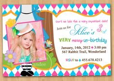 Alice in Wonderland Inspired Birthday by printablecandee on Etsy, $10.00