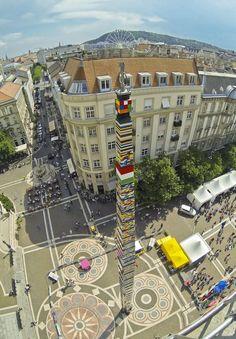 Legorekord an der Stephansbasilika 2014. Budapest, Hungary