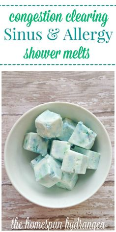 Vapor Rub Shower Cubes : Allergy Relief These sinus and allergy shower melts are easy to make and can help with the worst allergy symptoms.These sinus and allergy shower melts are easy to make and can help with the worst allergy symptoms. Home Remedies For Allergies, Sinus Allergies, Allergy Remedies, Cold Remedies, Allergy Symptoms, Health Remedies, Herbal Remedies, Cold Symptoms, Sinus Remedies
