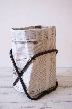 新聞紙ゴミ箱