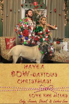 """""""Bow-dacious"""" Christmas Card! @cjmiles7"""