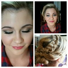 Prom hair and makeup by pure makeup and hair by pure Prom Hair Bun, Prom Hair Updo Elegant, Elegant Bun, Side Hairstyles, Headband Hairstyles, Shoulder Length Curls, Brunette Color, Popular Haircuts, Hair Videos