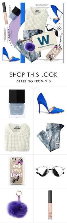 """W is for wow/ weekend/wtf"" by nastya-d ❤ liked on Polyvore featuring Butter London, Gianvito Rossi, Acne Studios, Casetify, RAJ, NARS Cosmetics, women's clothing, women, female and woman"
