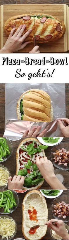 Pizza-Bread-Bowl - so hast du dein Brot noch nie gegessen!
