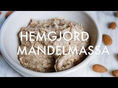 Mandelmassa – Recept på hemgjord mandelmassa Fika, Frosting, Oatmeal, Food And Drink, Tasty, Sweets, Make It Yourself, Cookies, Breakfast