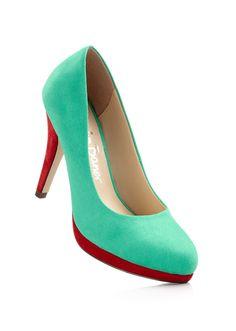#pumps #bonprix  I love the mint and red