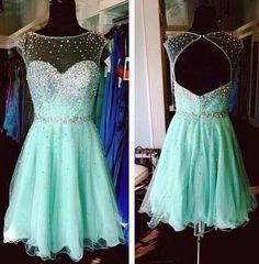 Teal dress w/crystals