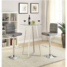 Matrix 43 Inch Height Round Brushed Stainless Steel Bar Table Pub Products Pinterest Tempered Gl Top And