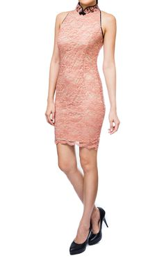 Cadence Lace Cheongsam in Light Pink, S$ 31.00