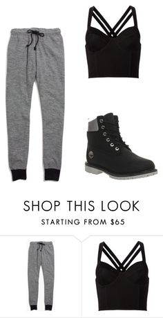 """""""Dance"""" by brooke-elliott-1 ❤ liked on Polyvore featuring Madewell, Fleur du Mal and Timberland"""