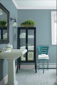 BM Province Blue. Bathroom?