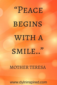 Inspirational quote from Mother Teresa.